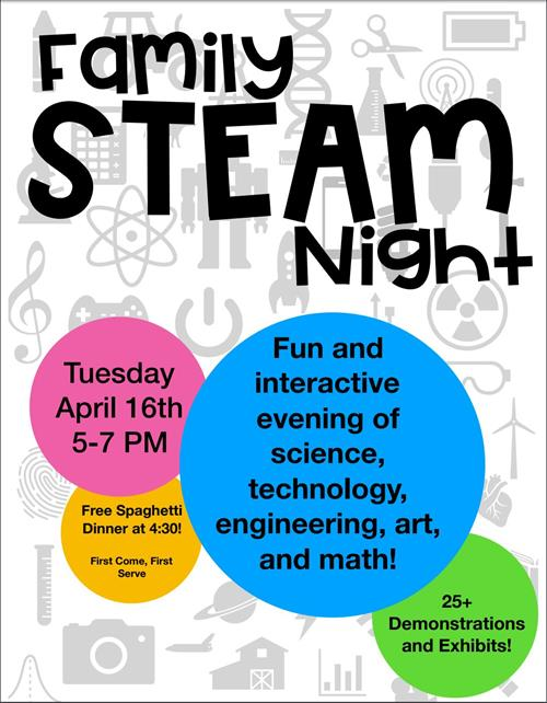 Family Steam Night Poster